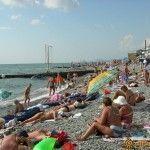 Пляж в Адлере