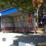 Автобусная остановка в центре Криницы