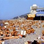 Пляж в Дагомысе. 1990 год.