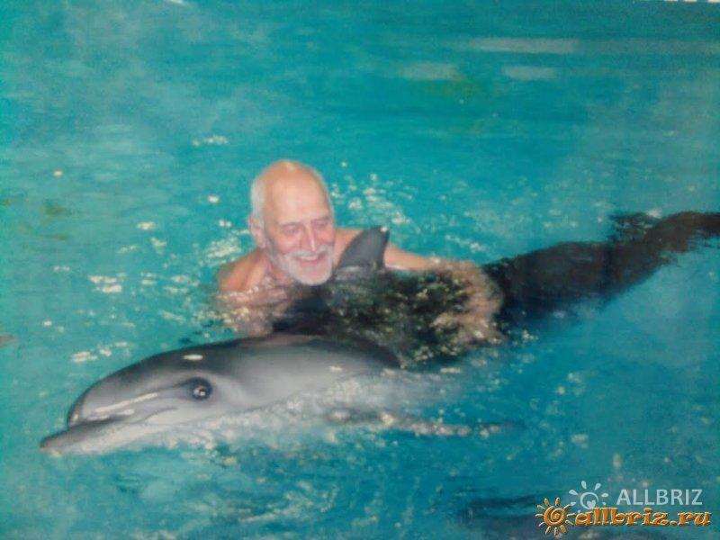 Н.Н. Дроздов в дельфинарии «Морская Звезда»
