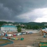 На пляже в Лермонтово