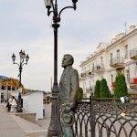 Памятник А И Куприну на набережной Балаклавы