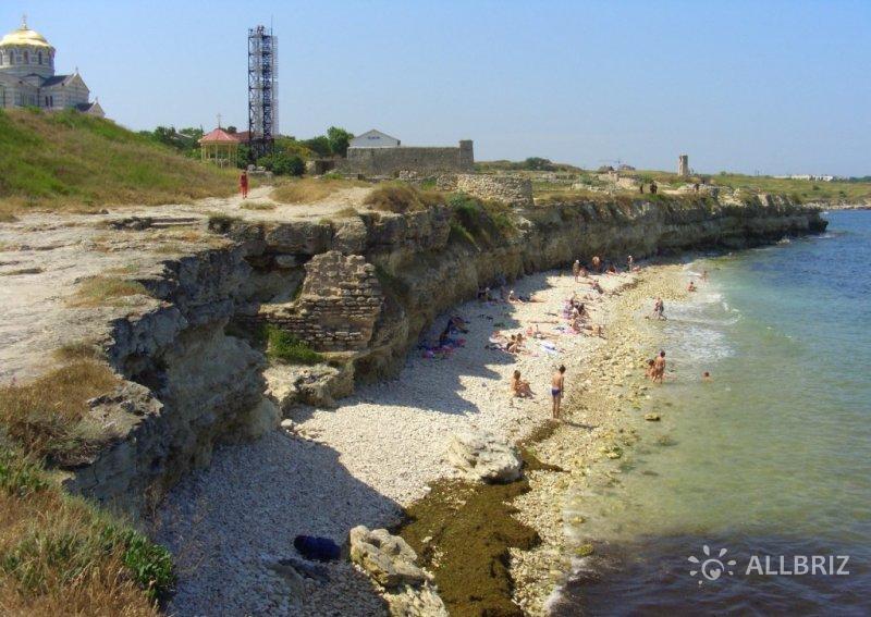 Пляж на территории Херсонеса
