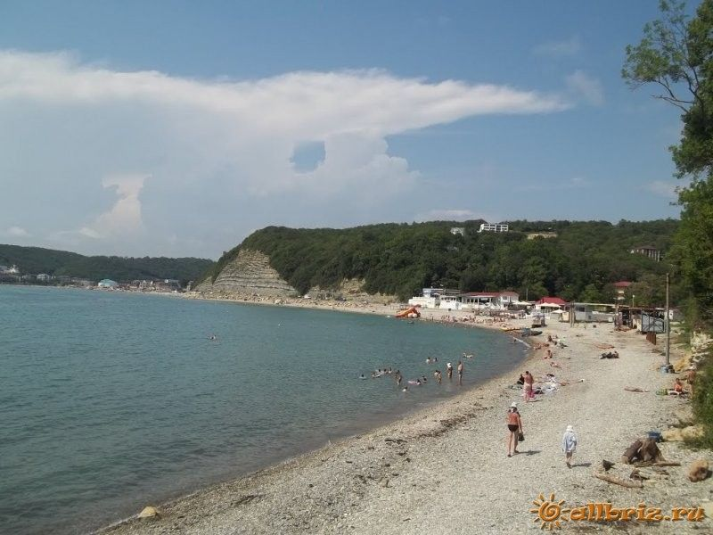 Пляж в новомихайловке фото 2018