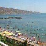Пляж в Орджоникидзе