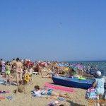 Пляж в Благовещенской в разгар сезона