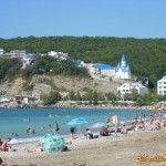 Пляж в Новомихайловском