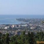 Вид на Сухум с высоты