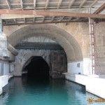 Вход в базу подводных кораблей