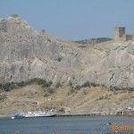 Вид с моря на крепость