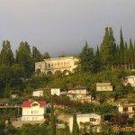 Вид с улицы Нартаа в Гаграх