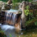 Водопад в музее дольменов