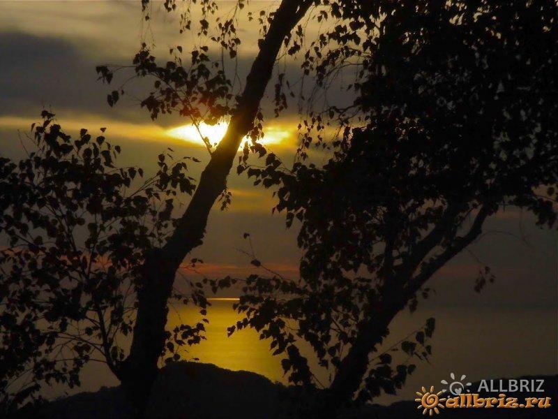 Вид на закат из чайных домиков