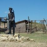 Казачья станица Атамань. Железный человек.