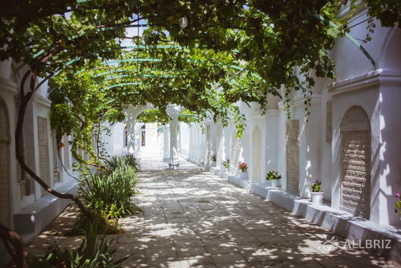 Виноградный дворик в Караимских кенасах