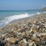 Галька на пляже в Шепси