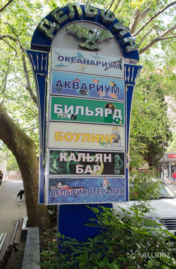 Стенд на ул. Победы напротив океанариума