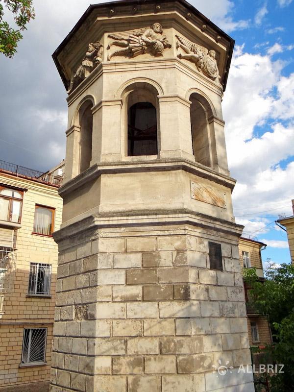 Башня бывшей морской библиотеки в Севастополе