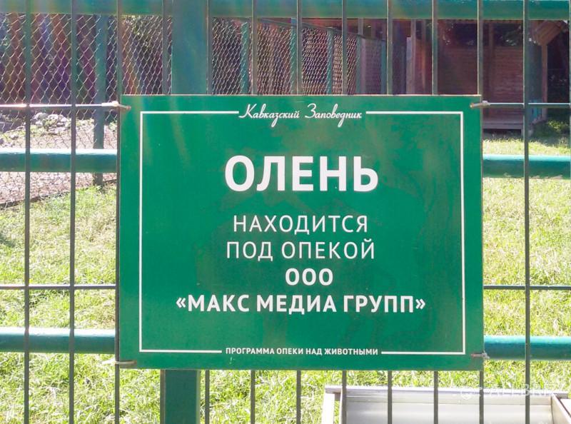 Табличка на вольере