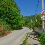 Дорога на поселок Мирный