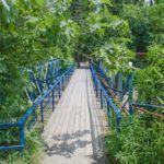 Мостик через реку Цусхвадж рядом с кафе «Восточный экспресс»