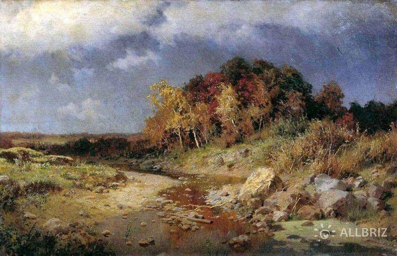 Картина А. Киселева «Осень. Ветренные день.»