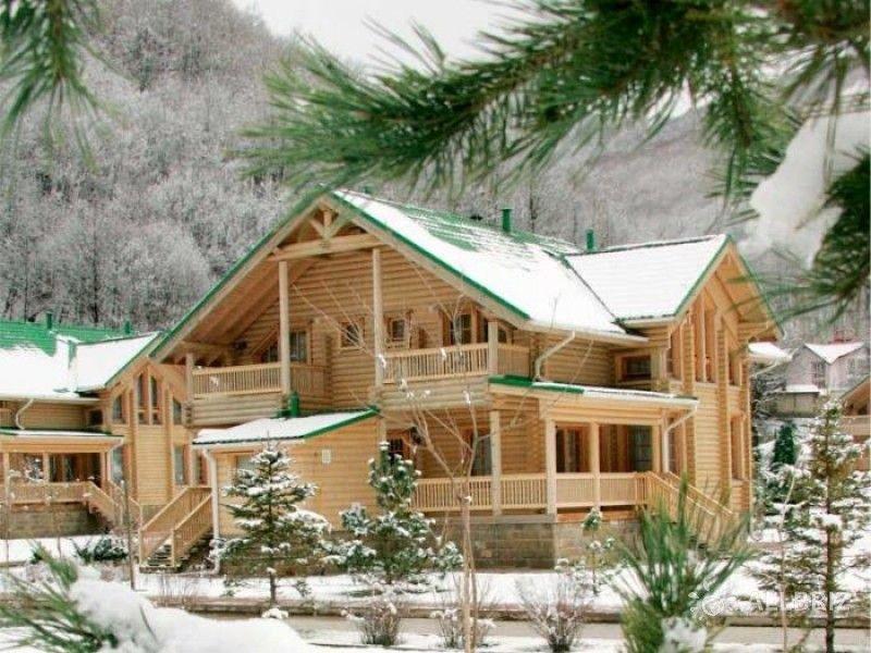 Вилла зимой