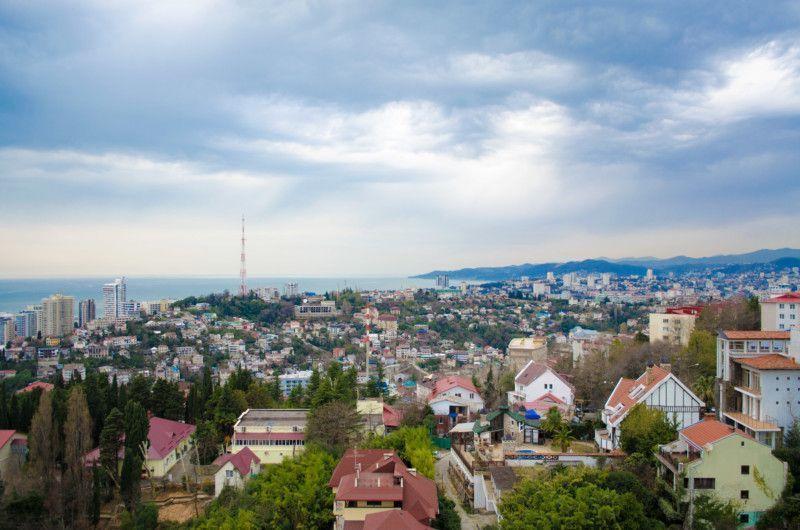 Вид на город с верхней башни