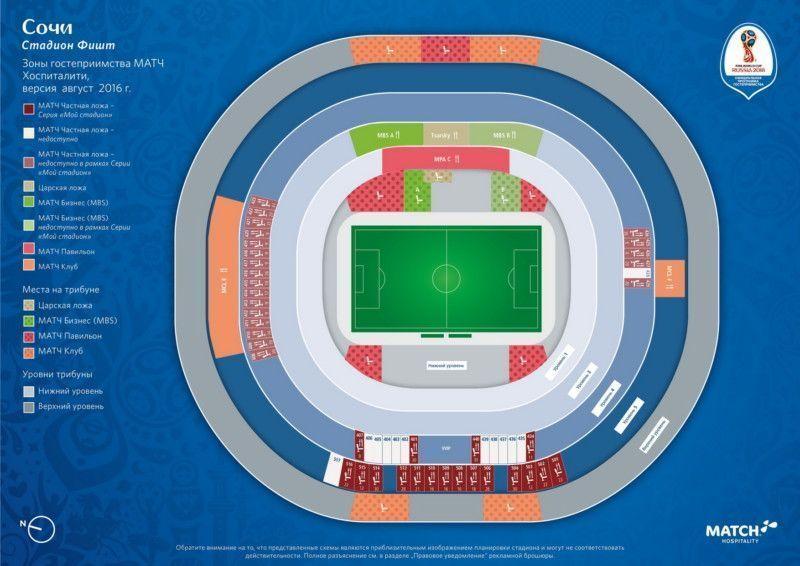 Схема стадиона «Фишт»