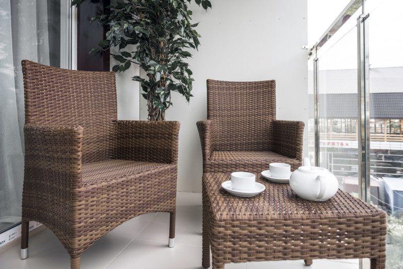 Апартаменты стандарт с кухней и балконом - балкон