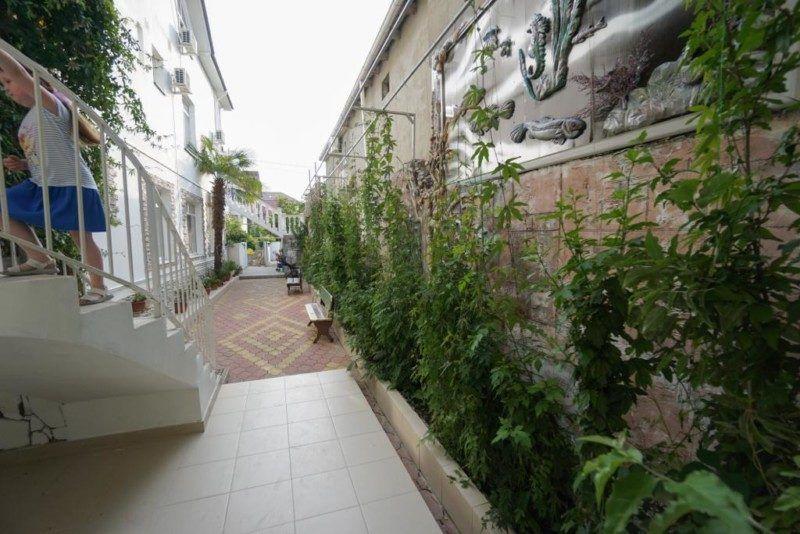 Озеленённый двор